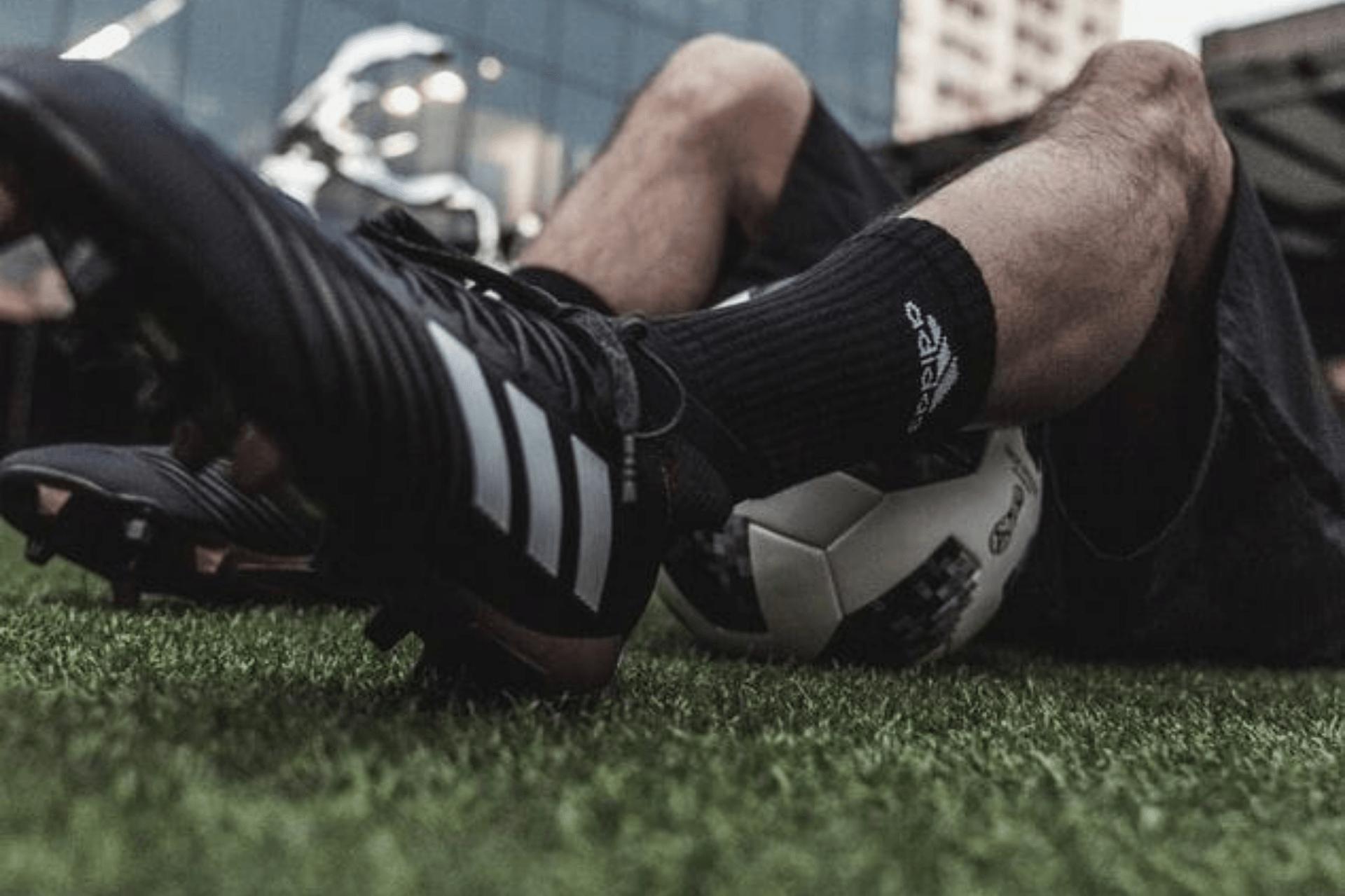 sweaty feet from soccer